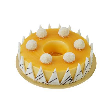 Vanilla Bavarian Golden Cake